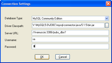 MySQL CE connection Settings