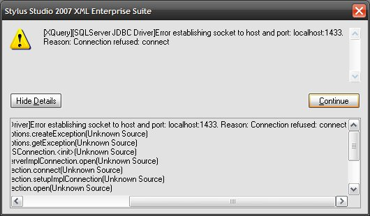 SSDN - Can't connect to DB - MS SQL Server 2005 Express