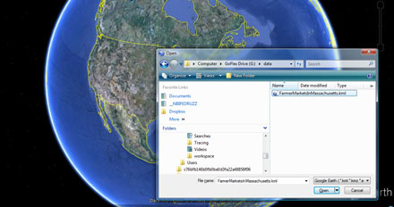 Google Earth using XSLT