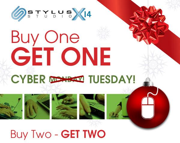 Stylus Studio Buy One - Get One Cyber Monday Sale