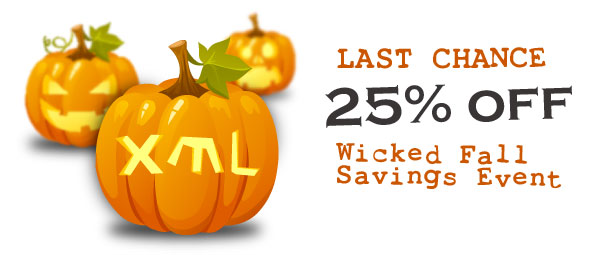 Stylus Studio Wicked Fall Savings Event - Get 25% Off